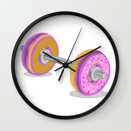 Donut Weight Artwork Wall Clock