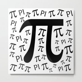 The Pi symbol mathematical constant irrational number, greek letter, background Metal Print