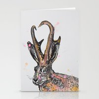jackalope Stationery Cards featuring Jackalope by Joseph Kennelty