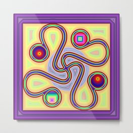 Winding colors Metal Print