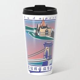Budapest, Bridge, vintage colors Travel Mug
