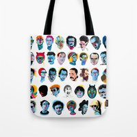 talking heads Tote Bags featuring Heads by Alvaro Tapia Hidalgo