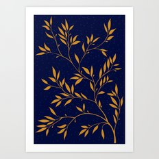 Blue branches Art Print