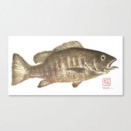 Mangrove Snapper Gyotaku Canvas Print