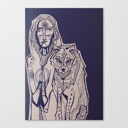 wolf magic Canvas Print