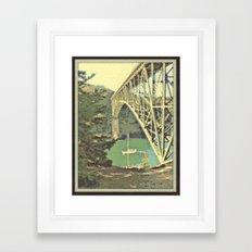 Navigating Deception Pass Framed Art Print