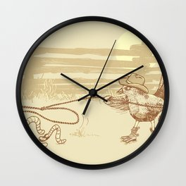 Cowbird Wall Clock