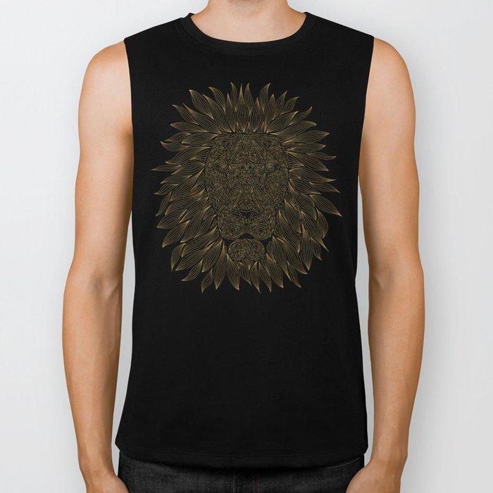 lion / black Biker Tank