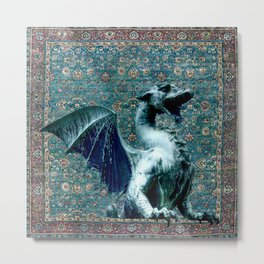 Blue Dragon - Garden of Beasts Collection Metal Print