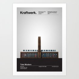Kraftwerk at the Tate Modern Art Print