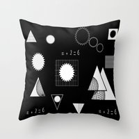 math Throw Pillows featuring math by BruxaMagica