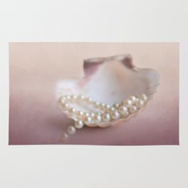 Pearls on a Shell Rug