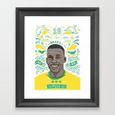 Pelé Framed Art Print