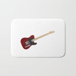 Red Electric Guitar Bath Mat