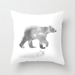 graphic bear III Throw Pillow
