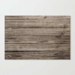 Rustic Brown Wooden Texture Background Canvas Print