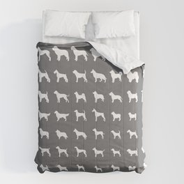 All Dogs (Grey/White) Comforters