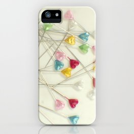 I heart pins iPhone Case