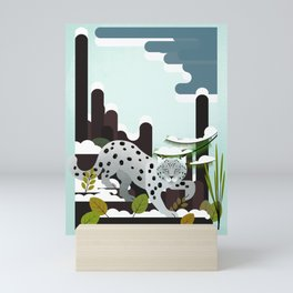Snow Leopard - Made for the Mountains Mini Art Print