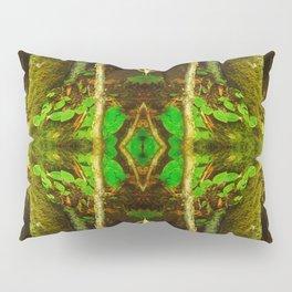 Dark Green Divine Forest Pillow Sham