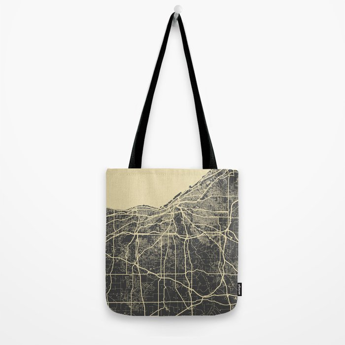 Cleveland map Tote Bag