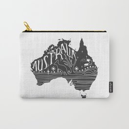 Australia map typo doodle Carry-All Pouch