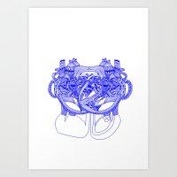 Vegetal Human Anatomy  Art Print