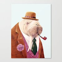 walrus Canvas Prints featuring Walrus by Animal Crew