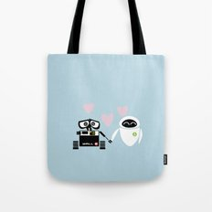 pixar walle and eve love and romance... minimalistic Tote Bag