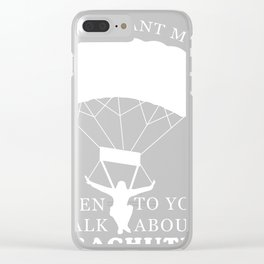 Skydiving Parachute Gift Sky Jump Clear iPhone Case