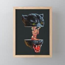 Panther Framed Mini Art Print