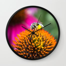 Collecting Pollen Wall Clock