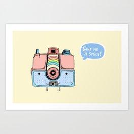 Give me a smile Art Print