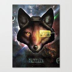 Star Fox McCloud Epic Space Poster Canvas Print