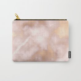 Blush pink faux gold vintage elegant marble Carry-All Pouch