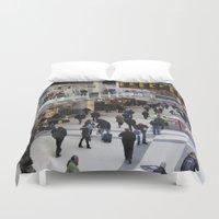 liverpool Duvet Covers featuring Liverpool Street Station London by David Pyatt