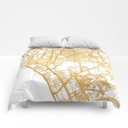 MANILA PHILIPPINES CITY STREET MAP ART Comforters