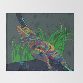 Colorful Lizard Throw Blanket