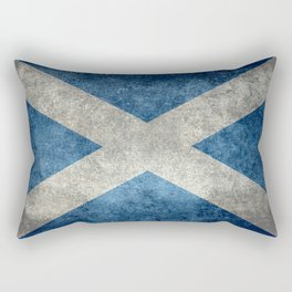 Scottish Flag - Vintage Retro Style Rectangular Pillow