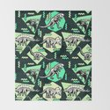 90's Dinosaur Skeleton Neon Pattern by chobopop