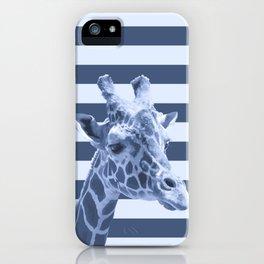 [Animals & Stripes] Blue giraffe iPhone Case