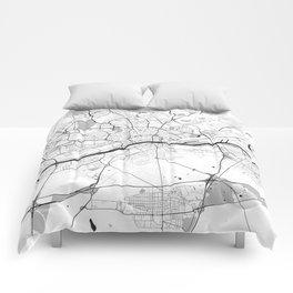 Frankfurt City Map Gray Comforters