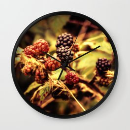 Fruits of the Forest Wall Clock