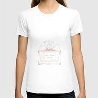 perfume T-shirts featuring Miss Perfume  by Huda Mulla