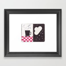 Coffee & Snow Framed Art Print