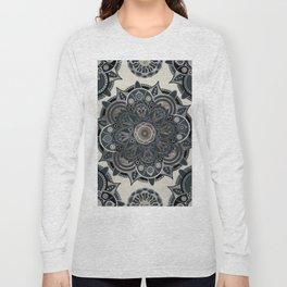 Silver Mandala Long Sleeve T-shirt