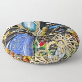 Jewelry Cluster 2 Floor Pillow