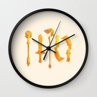 final fantasy Wall Clocks featuring Final Fantasy IX by GIOdesign