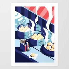 A night out in Seoul - Part 5 - Dumplings Art Print