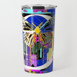 Song of the White Butterfly Abstract Travel Mug